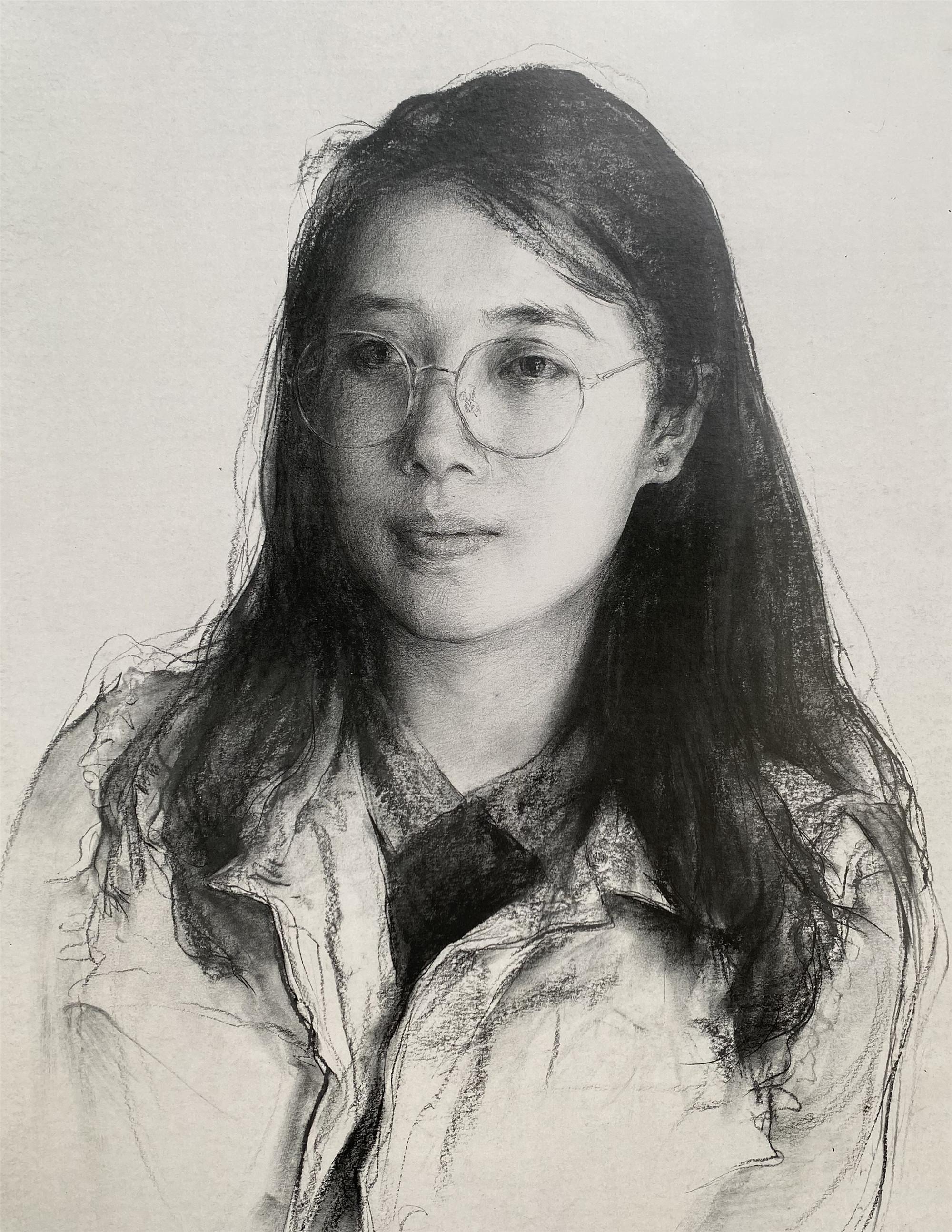 第一章:素描人像普及课  第五节:人物肖像中画面黑白灰关系的学习(选修作业)