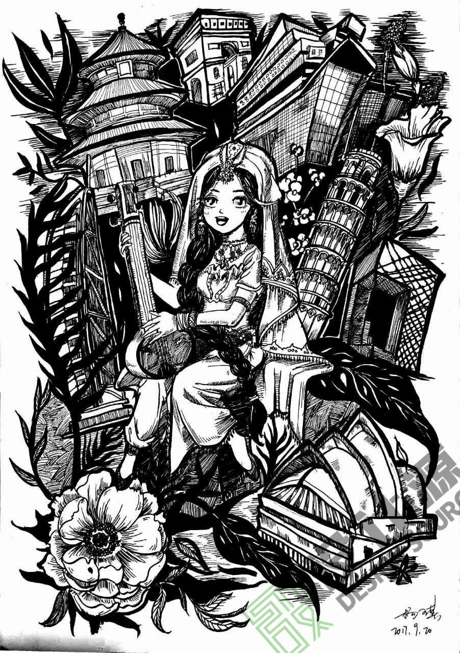 北京设计源黑白装饰画